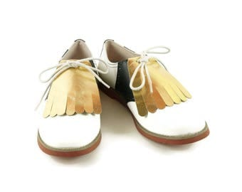 Gold Kilties for Womens Golf Shoes, Golf Kilties, Best Golf Gift, Kilties for Lindy Hop, Swing Dance Shoes, Golf Accessories, Golf Stuff