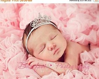 Baby Headband, Baby Tiara Headband, Clear Infant Tiara, Baby Girl Princess Headband, Photo Prop, Newborn Toddler Child Girls Headbands