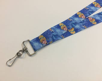 Cinderella Lanyard or clip to your cell phone or keys