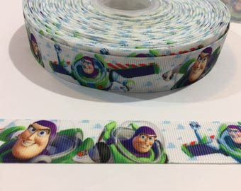 3 Yards of Ribbon - Toy Story's Buz Lightyear 7/8 Inch Wide