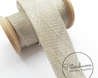3cm Sinamay Bias Binding Tape Strip (1.6m/1.7yards) for Millinery & Hat Making - Pale Grey