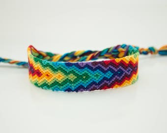 Shaded Rainbow Friendship Bracelet
