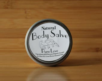All Natural 2oz body Salve- Organic Body lotion- Pure love body cream