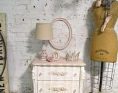 Painted Cottage Chic Shabby Romantic French Night Table NT930