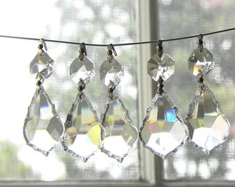 30 leaded cut crystal French pendants chandelier wall sconce suncatcher LAMP PARTS 1.5""