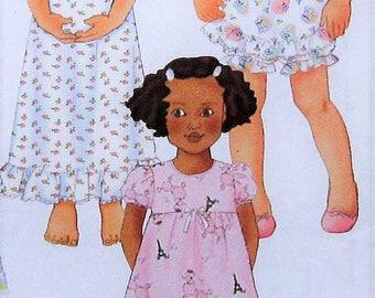 Pajamas Sewing Pattern UNCUT Butterick 6659 Sizes 2-5