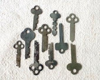 Vintage Metal Cabinet Keys for Reuse Lot of 10