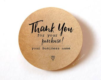 60 Thank You for your order stickers Thank You for your purchase Custom stickers printed stickers packaging 1.5 inch