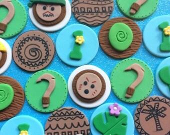 12 Maui fondant cupcake toppers - Maui Hook - Moana party - Maui party - Moana birthday - Maui birthday - Fondant toppers