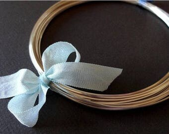 8% off SHOP-WIDE, 14 gauge Sterling Silver Wire - Round, Dead SOFT, solid .925 sterling silver, Select a Length, wire wrapping, precious met