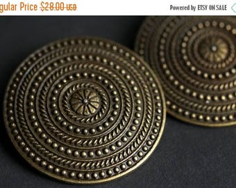 HOLIDAY SALE Two (2) Norse Shoulder Brooches. Bronze Apron Pins. Bronze Viking Brooches. Concentric Rings Brooches. Historical Reenactment J