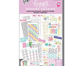 Dates and Holidays Big Happy Memory Keeping Sticker Value Packs (2601/Pkg) Me and My Big Ideas (PPSV-31-3048)