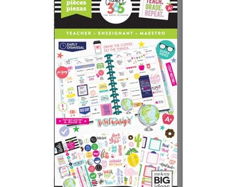 Sweet Life Teacher Create 365 Happy Planner Sticker Value Pack (1192/Pkg) Me & My Big Ideas (PPSV-14)