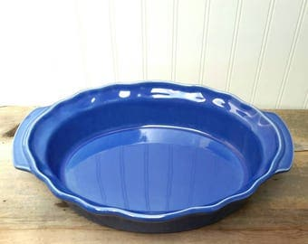 Made in France Azul Blue Large Earthenware Casserole Baking Dish by Esprit de Cuisine