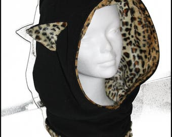 Customizable cat ears Meow hood scarf