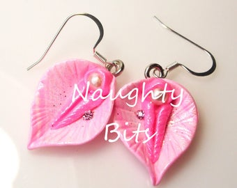 Vulva Earrings, vagina earrings, yoni earrings