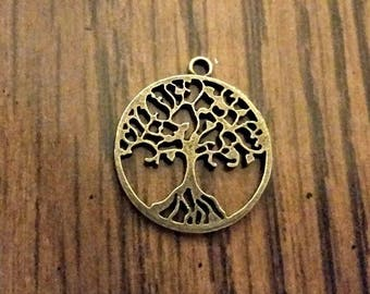 Antique Brass Tree of Life Pendants - SALE