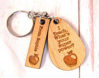 End of term Gift ~ I Teach, what's your super power? End of term gift ~ Teacher/class room assistant/teaching assistant ~ Oak, Cherry or Ash