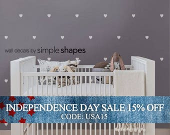 Independence Day Sale - Vinyl Wall Sticker Decal - Hearts small