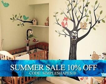 Woodland Nursery, Wall Decals Nursery, Tree Wall Decal, Nursery Decor, Owl Nursery Decor, Tree Wall Decal, Baby Nursery Wall Stickers