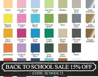 Wall Decal Color Samples - Color Guide Swatches - FREE SHIPPING - FREE Test Decal