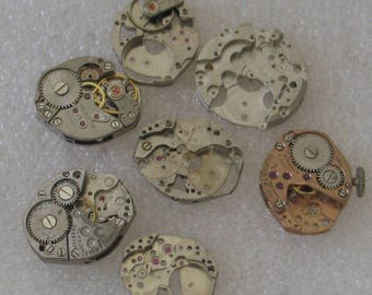 7  Small Watch Movements and Parts 13mm