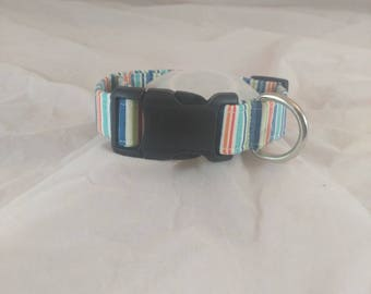 Kickback Stripes Dog Collar, Kickback Stripes Cat Collar, Dog Collars