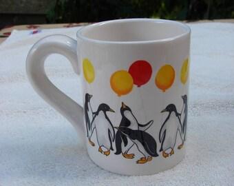 Penguin Celebration!! on an Elegant Ceramic Coffee Mug