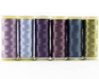 Wonderfil Invisafil 100 wt Polyester Thread Set B010 - Six 400m Spools