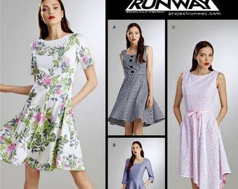 Sewing Pattern Simplicity Dress Pattern, Project Runway Dress Pattern, Flared Dress Pattern, Simplicity Sewing Pattern 8048