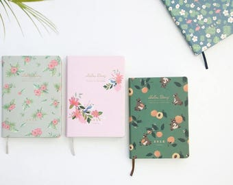 2018 Dated planner -Medium Monthly + Weekly planner in 4 colors