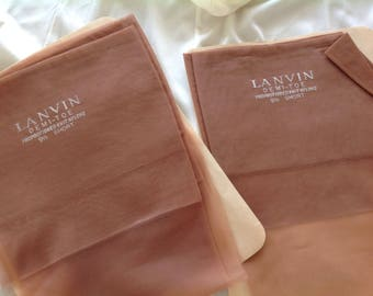 Vintage Stockings by Jeanne Lanvin, Paris. Two Pairs in Box.