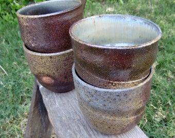 Wood Fired Swirl Teabowls