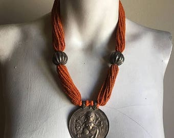 SUMMER SALE Rare Vintage Tibet Necklace • One of a Kind Beauty