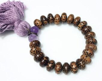 Tassel Bracelet, Coconut Beads Bracelet, Charm Bracelet, Natural Material Bracelet, Summer Bracelet, Charm Bracelet, Everyday Bracelet