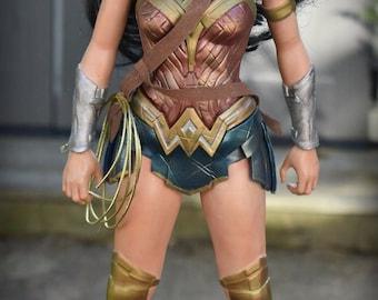 "ON Sale Jakks Pacific Big Figs RePainted Wonder Woman Gal Gadot 19"" Art doll Gift OOAK Collectible OCR super hero"