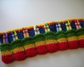 Hand Knitted Crayon Caddy