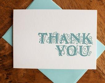 Flourishy Thank You - Card