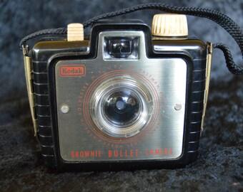 Vintage Kodak Brownie Bullet Camera Black Bakelite 1950's Original