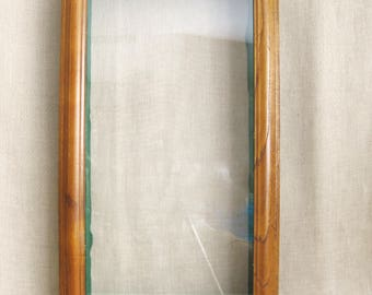 Vintage Shadow Box Frame, Taxidermy Display Case, Dioramas, Collectibles, Depth, Arts and Craft Supplies, Sculpture, Rectangle, Frame Glass