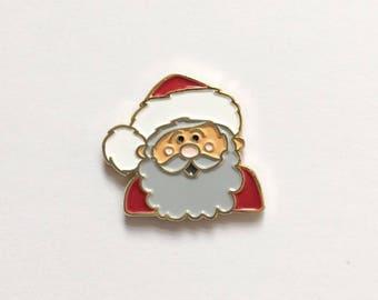 Santa Claus Enamel Pin - Santa Pin - Holiday Pin - Lapel pin for Christmas - Stocking Stuffer - Merry Christmas Pin - HoHoHo
