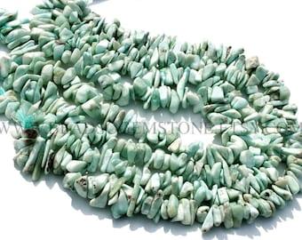 Larimar Chips (Quality A) / 7.5 to 11 mm / 36 cm / LARI-044, Semiprecious Stone