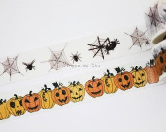 Halloween Washi Tape - Scrapbooking - Gift Wrapping - Packaging Supplies - 1 Roll - 10 mt - Ready to Ship