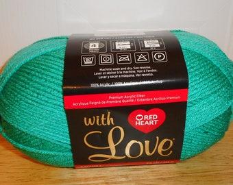 Red Heart, Yarn, With Love, Jadeite, Green