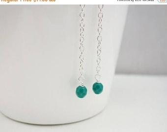 Summer Sale Long chain earrings turquoise beads earrings minimalist earrings gift for her