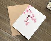 Japanese Cherry Blossom Stationery Set of 8