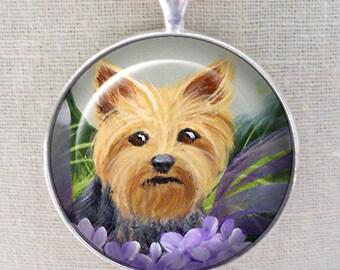 Yorkshire Terrier Keychain ~ Original Art ~ Yorkie Portrait ~ Dog Keychain ~ Pet Keepsake ~ July Birthday