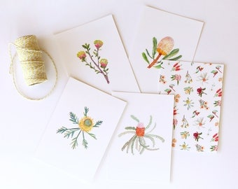 Flora 6 Pack - Illustrated A6 Postcards With Envelopes