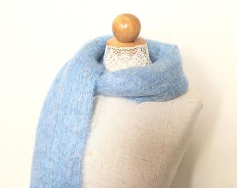 Mohair Scarf - Womens Scarf - Womens Scarves - Womens Winter scarf Women - Wool Scarf for Women - Mohair Scarves Women Ladies Scarf Blue