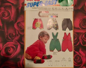 Burda Sewing Pattern Infant Rompers